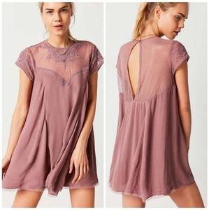 UO Kimchi Blue Lace Blush Pink Mini Dress Medium
